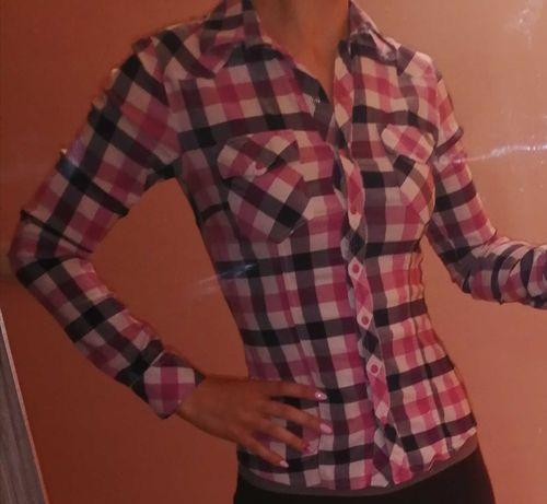 Дамски ризи 2бр синя и розова