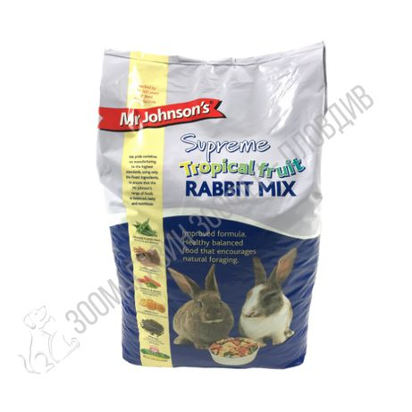 MrJohnson`s SUPREME Tropical Fruit Rabbit Mix 15кг - Храна за Зайчета