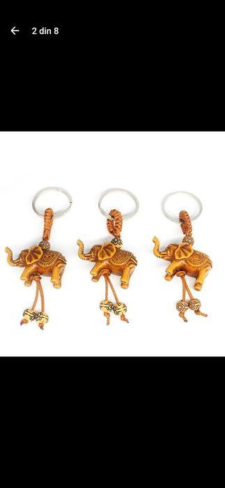 Breloc norocos Elefant cu trompa sus de pus la telefon, cheile mașini. Bucuresti - imagine 1