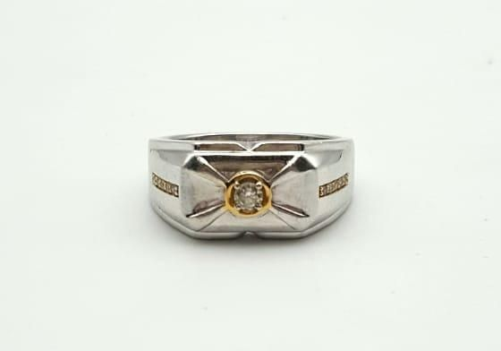 кольцо с бриллиантами, золото 585 Россия, вес 9.55 г. «Ломбард Белый»