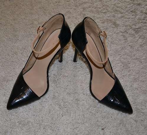 Pantofi dama, Zara, stiletto, negri, marimea 38