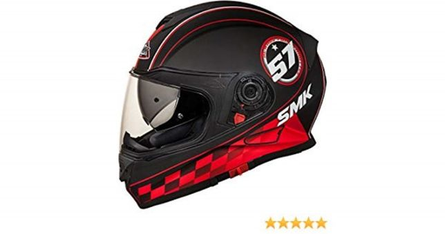 Casca moto Smk Twister Blade Black Red-si in rate prin Tbipay