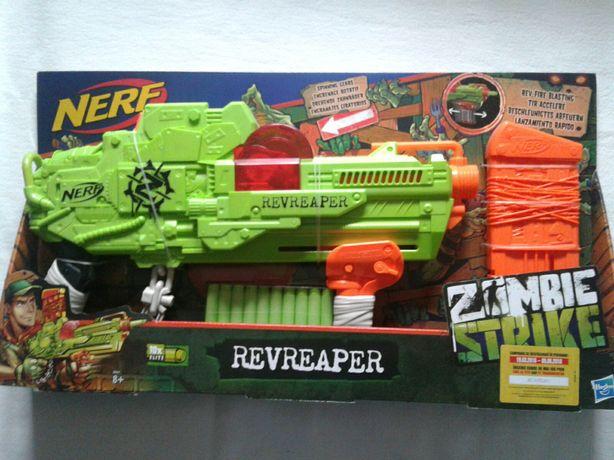Arma noua Nerf Revreaper Zombie Strike, 10 proiectile burete, sigilata