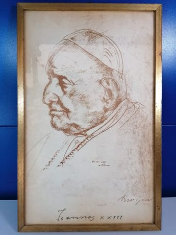 Tablou Papa Ioan al XXIII-lea , 36 x 22.8 cm ,print cu semnatura