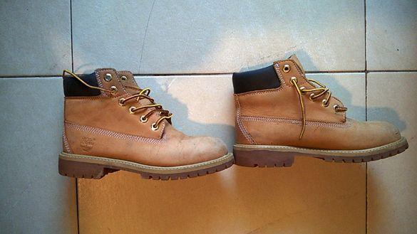 Кожени обувки-боти Timberland 34 запазени, изолация Primaloft 200gram
