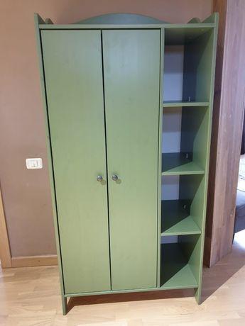 Икея икеа IKEA   шкаф зеленый детский, дерево массив, отлич. состояние