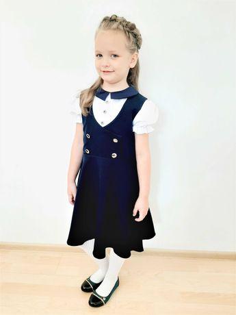 Sarafan si camasi bluemarin pentru fete