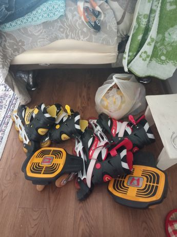 Продам бу роликовые коньки размер 36 на 42