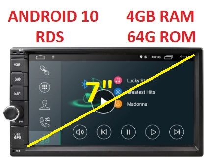 ГАРАНЦИЯ Мултимедия Android 4GB RAM 64G 8 CORE GPS RDS двоен дин 2 DIN