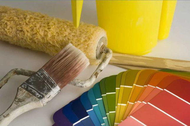 Профессионально: эмульсия, краска, обои, левкас и т.д.
