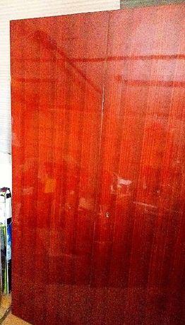 Врати за двукрил гардероб - 2бр 50см/160см цвят махагон - лак