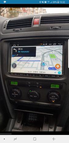 """Navigatie navi Android 9"""" VW Passat B6 B7 CC Golf 5 6 Skoda Octavia"""