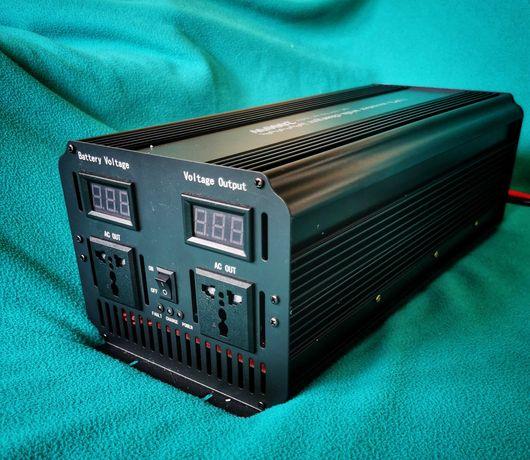 UPS Инвертор + зарядно 2000w / 4000w 12 220v пълна синусоида юпс
