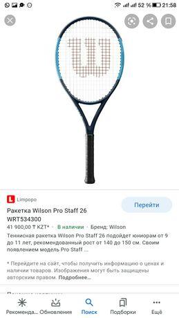 Профессиональная ракетка для большого тенниса