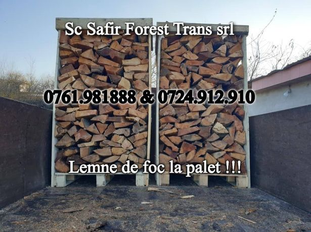 Palet . Lemne de foc la palet . Depozit lemne de foc
