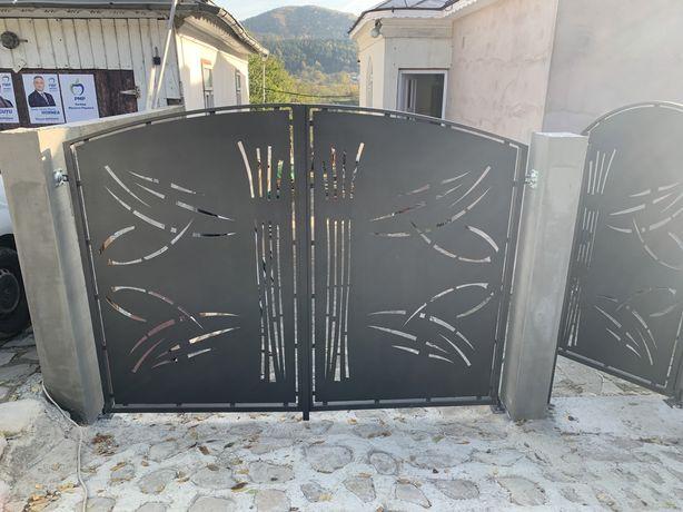 Porti si garduri tabla decupata sau fier forjat