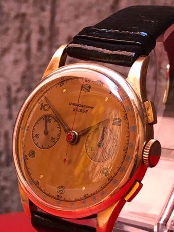Златен хронограф мъжки ръчен часовник от 1950г.