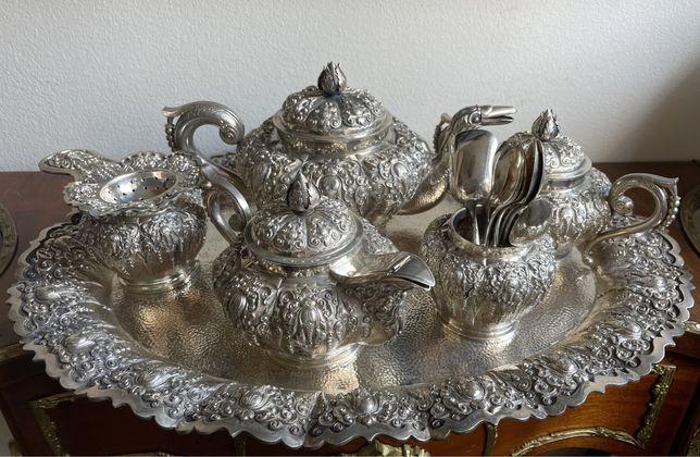 Set cafea si ceai - argint