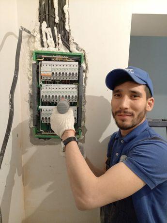 Хороший электрик Профессионал вызов и выезд на дом Алматы Недорого АВР
