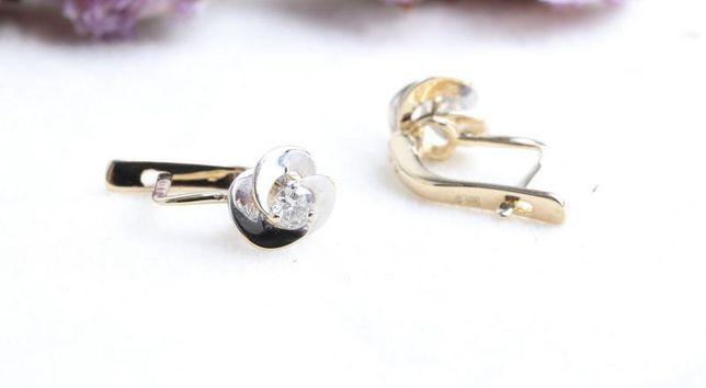 Серьги с бриллиантами, золото 585 Россия, вес 1.74 г. «Ломбард Белый»
