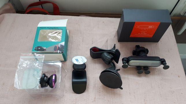 Suporți auto de telefoane, cu ventuza, magnet sau în ventilație