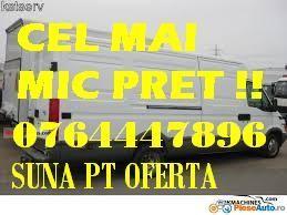 Transport Cel mai MIC Pret marfa mutari mobila,moluz L-4,60. 3,5 T