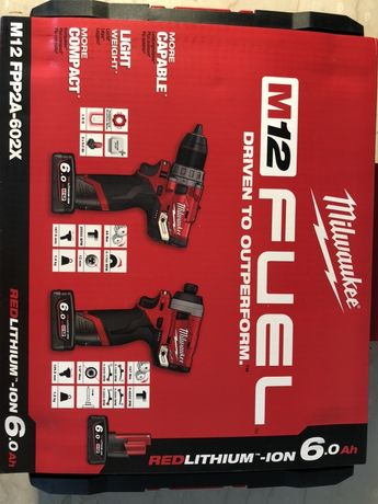 MILWAUKEE m12 FPP2A-602x set filetanta + impact, NOU