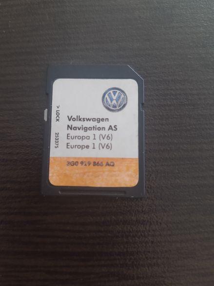 Volkswagen , Seat , Skoda оригинална навигационна карта на Европа