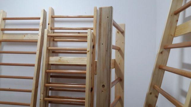 Spalier gimnastica 240/80 cm, 11 trepte, nelacuit
