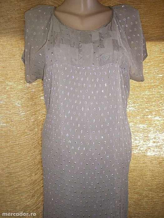 Rochie gri argintiu Bucuresti - imagine 1