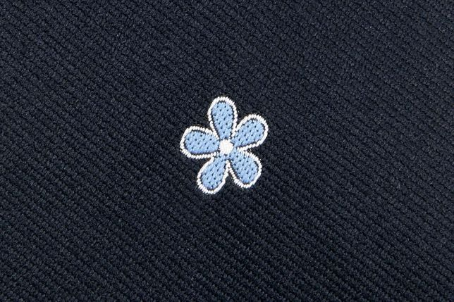 "Cravata Mason (albastru inchis) - Floare de ""nu-ma-uita"""