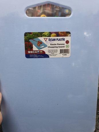 Пластиковая разделочная доска для кухни, Турция голубая