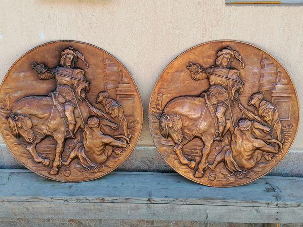 2 panoplii vechi de cupru