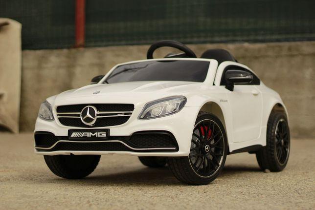 Masinuta electrica pentru copii Mercedes C63 AMG , Music player #White