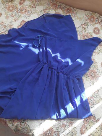 Дълга лилава рокля