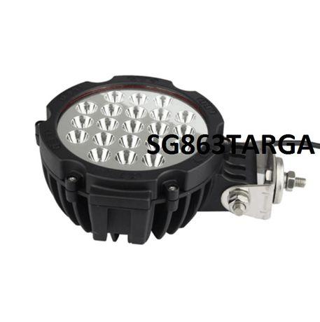 Мощен, универсален диоден прожектор, светлина, работна лампа, 63 вата