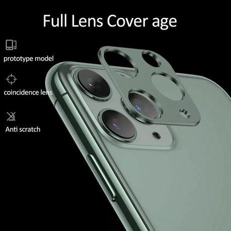 Алуминиев ринг  и стъклен протектор за камерата заIPhone 11,11 Pro Max