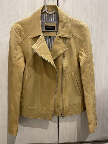 Кожаная куртка косуха Massimo Dutti