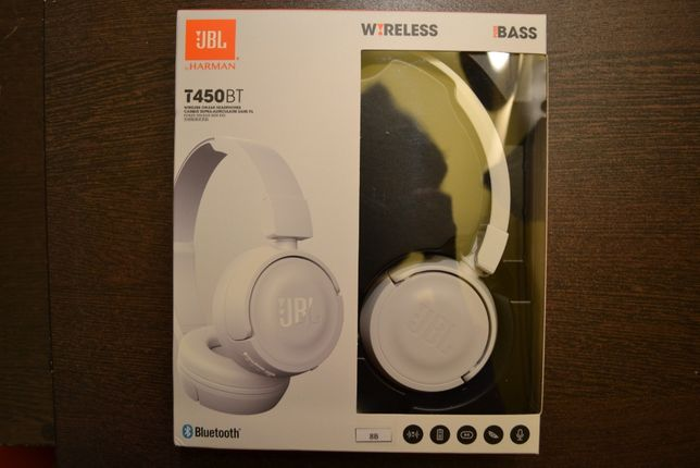 Casti audio on-ear cu microfon JBL T450, Bluetooth