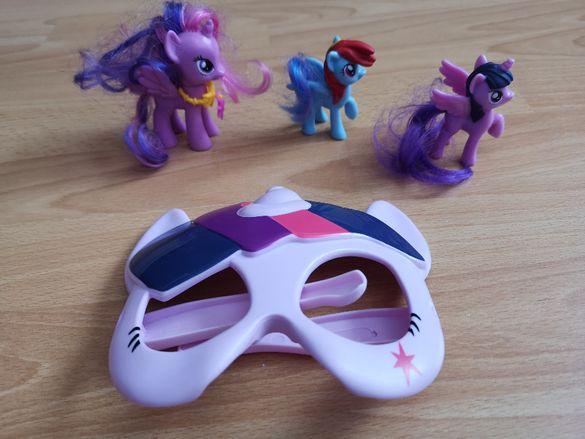 """Маска """"Моето малко пони"""" с 3 фигурки """"My Little Pony"""""""