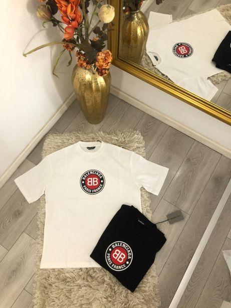 tricou Balenciaga colectia noua TOP alb/negru