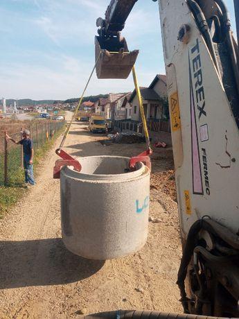 Clesti tuburi. Clesti ridicare-manipulare tuburi de beton prefabricate