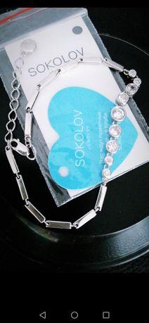 Серебро SOKOLOV отличный браслет