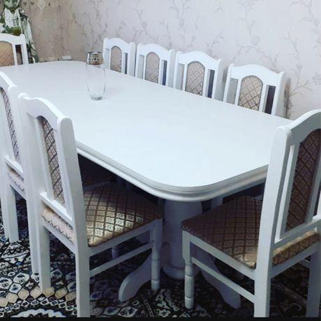 АКЦИЯ!!! Новый Стол и 10 стульев цена со скидкой 175.000тг