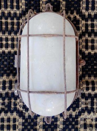 стара влагозащитена лампа-13205-за части-общ. Приморско