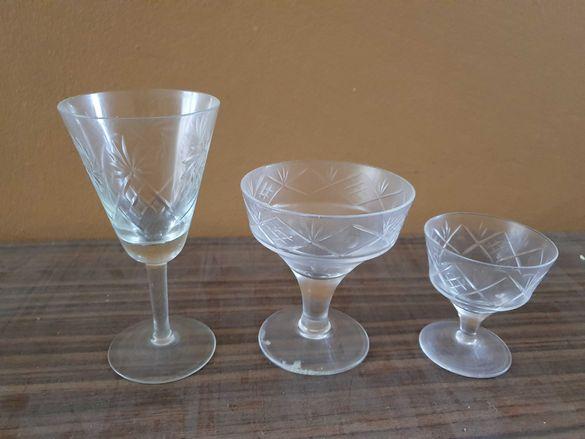 Кристални чаши комплект