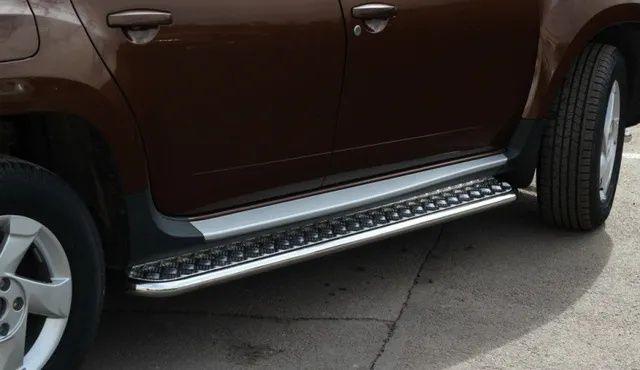 Renault Duster, Рено Дастер - боковые подножки пороги