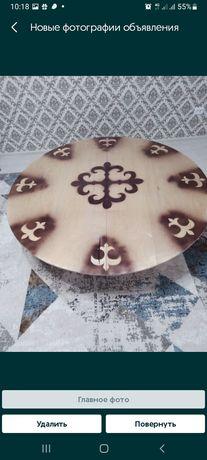 Складной казахский круглый стол. Аренда 2500 тг