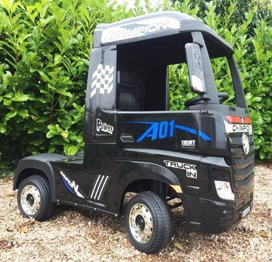 Camion electric pentru copii Mercedes Actros 4x35W 24V #Black Covasna - imagine 1