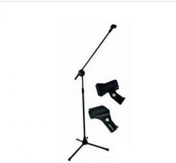 Метална стойка за микрофон GMS-08 с държачи за 2 микрофона 1,3m-2,4m